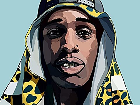 Asap Rocky (19x14 inch, 47x35 cm) Silk Poster Affiche en