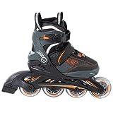 Ultrasport Jungen Inlineskates U-Turn, schwarz/grau/orange, 29 - 33, 320000000231