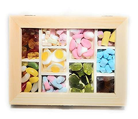 Delicious Candy Box - Beautiful Resealable Box With Mouth Watering Chewy Jelly SWEETS - The Perfect Gift For Any Occassion Birthday Congratulations MUM DAD GRANDAD GRANDMA NANA PAPA COUSIN BROTHER SISTER
