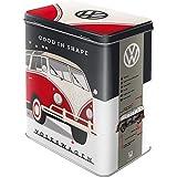 Nostalgic-Art 30136Volkswagen, Grande boîte en métal, Motif VW Bulli-Let's Get Away!, Métal, Volkswagen - Good in Shape, 10 x 14 x 20 cm