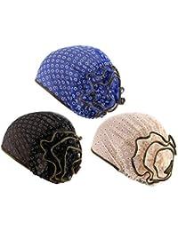 Zhhlaixing Quimio Tapa Gorros Oncologicos para Mujer - Étnico Flor  Impresión Moda Estirarse Pañuelo Sombrero En 5f1b70ca03e