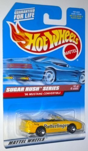 hot-wheels-1998-sugar-rush-series-butterfinger-96-mustang-convertible-4-of-4-164-scale-die-cast-vehi