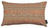 McAlister Textiles Aztec Kollektion | Rechteckiger Kissenbezug im Geometrischen Colorado-Muster | 50cm x 30cm in Terracotta Orange | Deko Kissenhülle für Sofa, Bett, Couch, Kissen