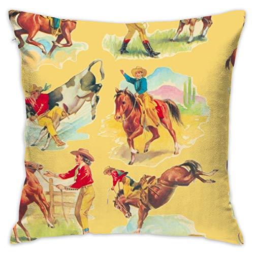 Fun Life Art Cowboy Cowgirl Gold Kissenbezug 18