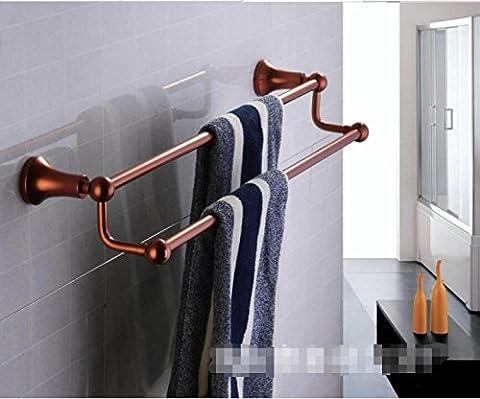 Espace Aluminium Couleur Salle De Bain Rouge Bronze Serviette Bar Serviette Double Pole