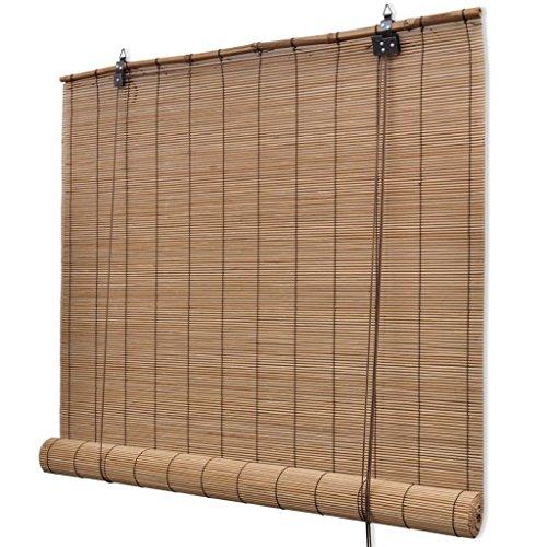 Festnight- Tenda Bamboo, Tende a Rullo, Tapparella Avvolgibile bambù Marrone 150 x 220 cm