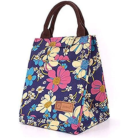 wewod Recycled Insulated borsa per il pranzo Lunch Tote Bag -- 20* 18* 24cm/7L capacità H