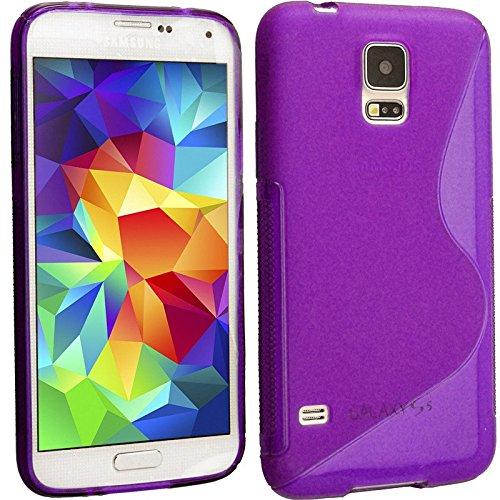 Violet S Line Wave Coque arrière souple en gel TPU pour Samsung Galaxy S4Motif