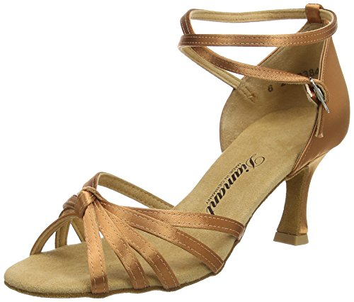 Diamant Diamant Damen Latein Tanzschuhe 109-087-379, Damen Tanzschuhe - Standard & Latein, Braun (Dark Tan), 36 EU (3.5 Damen UK)