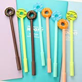 #7: Oytra (Pack Of 12) Unique Cartoon Cute Candy Donut Fancy Ink Pen For Kids 0.38 MM - Black