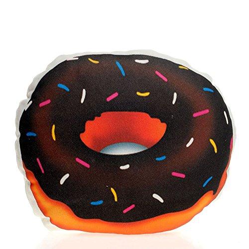 popdesigners Donut Donut Party Emoticon Emoji-rund Überwurf Accent Plüsch Kissen Fun Loving Geschenk für sie/ihn Deko Wohnzimmer Kissen Smiley Decor Bett 100% weiche Baumwolle Kissen