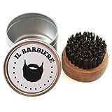 Bartbürste mit Wildschweinborsten Runde - Reise-Bartbürste - Naturprodukt zur Bartpflege - Round Beard Brush