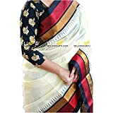 PRAMUKH STORE Bhagalpuri Saree With Blouse Piece