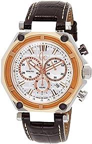 Gc Men's Quartz Watch,Chronograph Display, Leather Strap X10001G1S, B