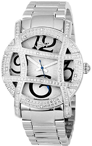 JBW WOMEN'S OLYMPIA DIAMOND 38MM STEEL BRACELET & CASE QUARTZ WATCH JB-6214-B