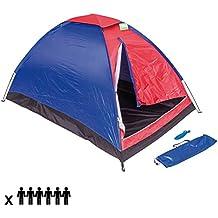 Tienda de campaña para 6 personas cortina camping playa Cúpula 6 plazas familiar cortina Outdoor de