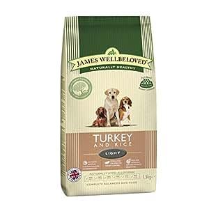 James Wellbeloved Dog Food Light Turkey and Rice Dry Mix 12.5 kg