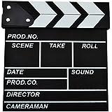 Lommer Director's English Letterings film Cut Action Scène Ardoise de plan de avec bâtons Noir/blanc–noir, Bois, bois, 20*20cm