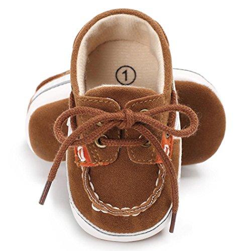 Chaussures bébé,Xinan Chaussures Garçon Fille Cuir Souple Automne Chaussures Mode (café, 6~12 M)