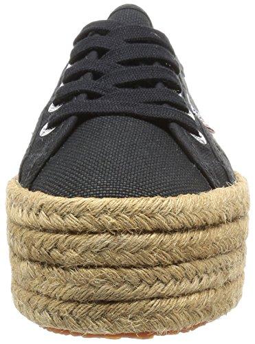 Superga 2790-Cotropew, Sneaker a Collo Basso Donna Nero