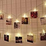 Portafoto Clip String Lights Fairy Light Batteria a 10 LED Clip per camerette per matrimoni Decorazione camera da letto