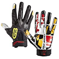 ‏‪Grip Boost Maryland Flag Football Gloves Stealth Sticky Football Gloves Pro Elite Football Gloves Youth and Adult Sizes Adult X-Large‬‏