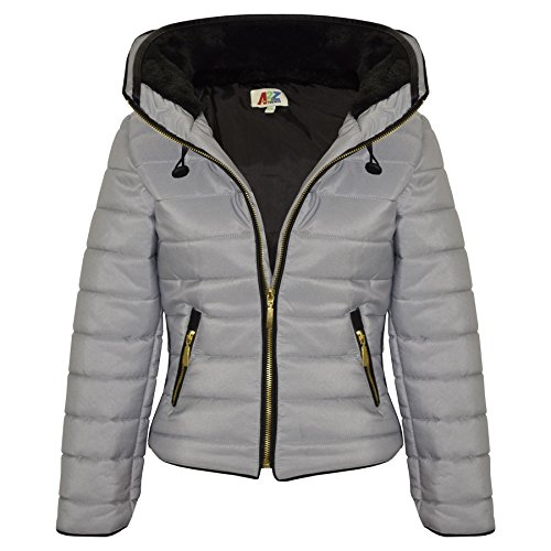 fddb08c584937 A2Z 4 Kids® Girls Jacket Kids Stylish Padded Puffer Bubble Faux Fur Collar  Quilted Warm Thick Coat - Silver - 5-6 Yr - Buy Online in Oman.