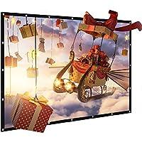 Pantalla para Proyector Proyección Material de PVC 120 Pulgadas, Joyhero 16:9 Projection Screen Universal 265 x 149 cm(PVC 120 Inch)