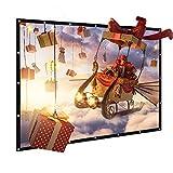 Schermo Proiezione 100 pollici, Joyhero Teli Proiettori Videoproiettore Portatile Pieghevole Screen per Home Cinema Proiettore Universale 220cm x 125cm
