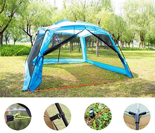 Adobe abs Pavillon Wasserdicht Event Shelter, Deluxe (365X365X215cm) Stabiles Partyzelt Mit Stahlgestänge, BBQ Gazebo, Eventzelt, Sonnenschutz SPF 50+