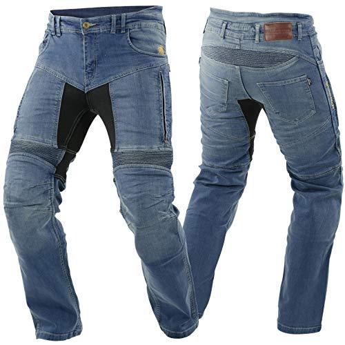 Trilobite Parado Motorrad Jeans Hose L30 Blau Herren Stretch Abriebfest Reißfest Elastisch, 03066100, Größe 42