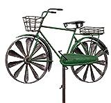 colourliving Windspiel Fahrrad Citybike Metallwindrad Herren Fahrrad grün 2 Windräder kugelgelagert