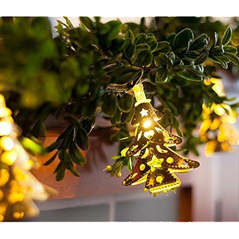 NNIUK 20 LED albero di Natale Fata String luci a batteria per Garden Party decorazione di Halloween. - Guardare La Finestra Sul Cortile