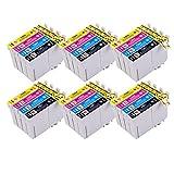 PerfectPrint Kompatibel Tinte Patrone Ersetzen für Epson Stylus S22 SX-125 130 420W 425W 445W 230 235W 445W 435W 430W 438W 440W BX-305F 305FW T1285 (Schwarz/Cyan/Magenta/Gelb, 24-pack)