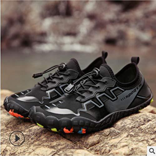 ATLD Scarpe da Spiaggia Five Fingers Wading Shoes Outdoor Scarpe da Trekking Scarpe da Nuoto Spiaggia Tracking Scarpe Scarpe da Sub Scarpe da Arrampicata E alla Deriva Anfibio,1818 Nero,36