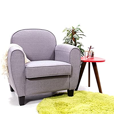 Panana Modern Linen Fabric Tub Chair Armchair Sofa Dining Living Room Furniture Grey Chair - inexpensive UK light store.