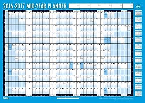 Tagesplaner, akademisches Jahr 2016–2017, A4/A5, Wochenansicht A2 Compact Academic Year Planner (3924)