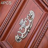 Xiaochou@sl Bronze-Zink-Legierung Kleiderschrank Medizin Schrank Möbel Schubladengriff, Größe: Extra Large-91g 4 PCS Stabil (Farbe : Bronze)