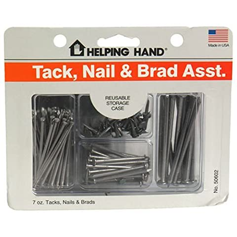 Helping Hand Tack, Nail & Brad Assortment Plus Reusable Storage Case - 7 oz by Helping Hand