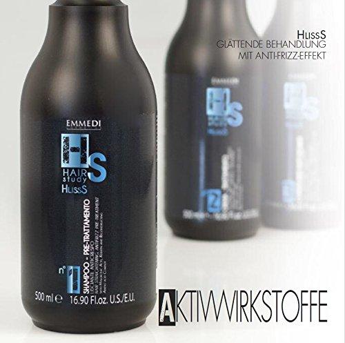 HS Emmedi HlissS n° 1 Shampoo zur Glätt - Vorbehandlung mit Hyaluronsäure Keratin und einem rekonstruierenden Aminosäure - komplex 1x 500ml