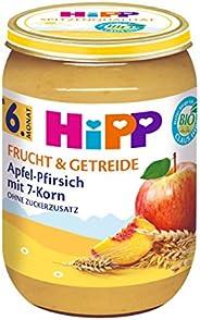 HiPP Apfel-Pfirsich mit 7-Korn, 6er Pack (6 x 190 g)