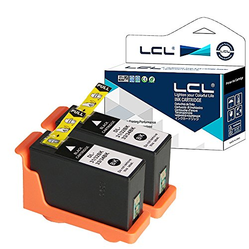 Preisvergleich Produktbild LCL(TM) 31 32 33 34 (2-Stück Schwarz) Tintenpatrone kompatibel für Dell V525w / Dell V725w