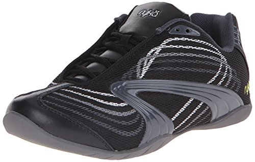 Ryka Women's Studio D Cross-Training Shoe, Black/Chrome Silver/Metallic Steel Grey/Metallic Iron Gray, 7.5 M US (Ryka Womens Studio)