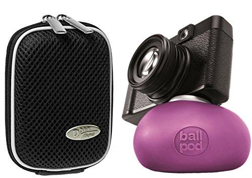 Foto Kamera Tasche Hardbox MEMO M Black im Set mit Foto- und Videostativ BallPod