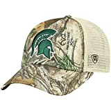 Top of the World NCAA Michigan State Spartans Men's Camo Stock Adjustable Mesh Icon Hat, Real Tree