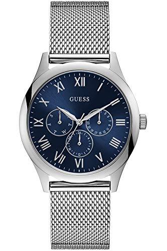 Guess Herren Analog Quarz Uhr mit Edelstahl Armband W1129G2 (Herren-uhr Guess)