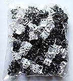 Mini-Haarklammern, Schwarz / Weiß, 1,5 cm, 100 Stück