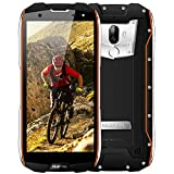 Outdoor Handy, OUKITEL WP5000 IP68 Smartphone Wasserdichtes Stoßfest Staubdicht Dual SIM Handy Android 5.7 Zoll mit 18:9 Display 5200mAh Akku Dual Kameras 16MP+5MP 6GB RAM 64GB ROM-Orange