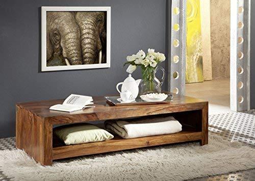 Table basse 135x70cm - Bois massif de palissandre laqué - DUKE #120