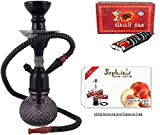 #4: JaipurCrafts Premium Combo of 12 inch Bombino Glass, Iron Hookah, 10 Hookah Disk and Premium Hookah(100% Nicotine and Tobacco Free) Flavor(100% Nicotine and Tobacco Free) (Color May Very)